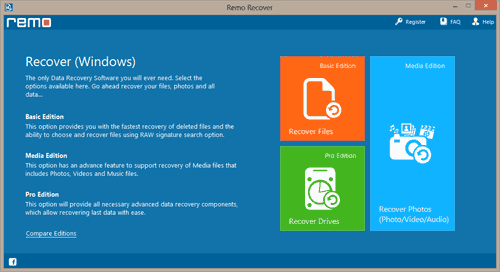 Portable Hard Drive File Recovery | Main Window
